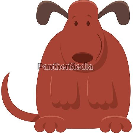 lindo perro marron o cachorro personaje