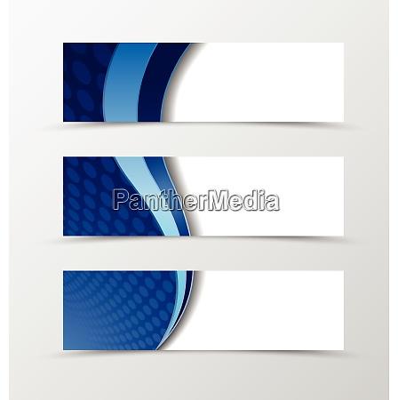 set of banner circle grid design