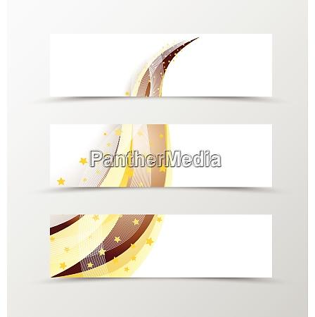 set of banner swoosh design set
