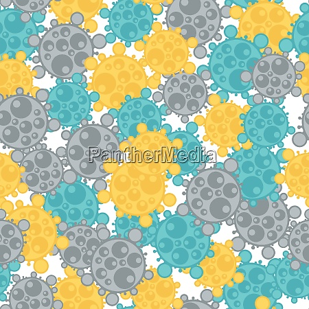 medical seamless pattern with abstract viruses