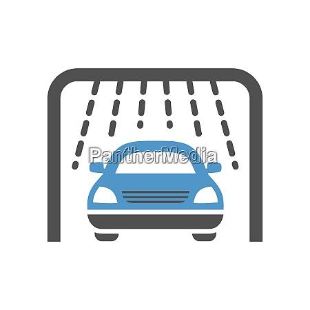 car wash gray blue icon