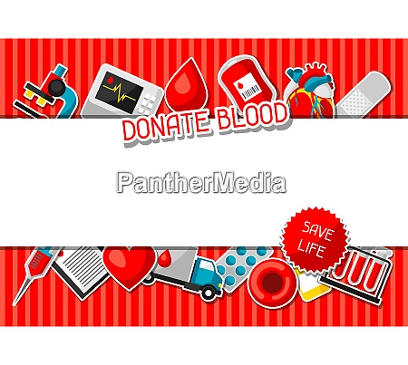 donate blood background with blood donation