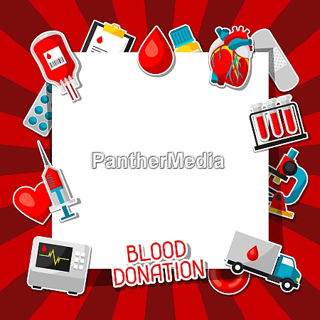 blood donation background with blood donation