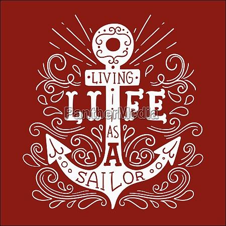 vida de marinero ancla