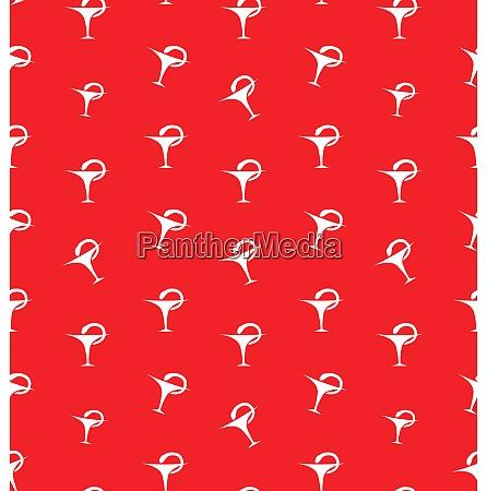 seamless pattern with caduceus medical symbol