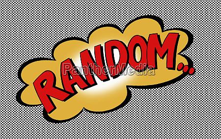 la palabra random en la burbuja