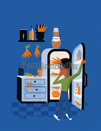 man in kitchen with a glut