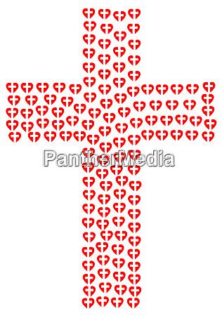rojo amor corazon cruz cristiana crucifixion