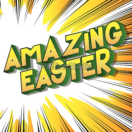 amazing easter comic book style