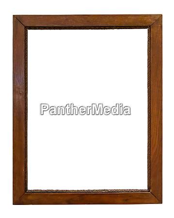 dark wooden picture frame on white