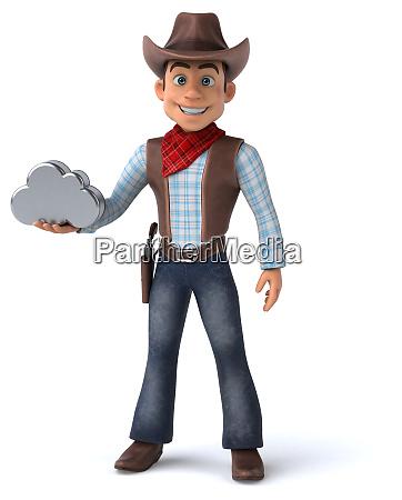 fun cowboy 3d illustration