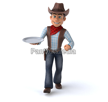 spass cowboy 3d illustration