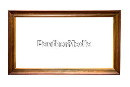 marco, de, madera, sobre, fondo, blanco - 26890238