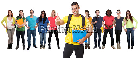 group of students college student young