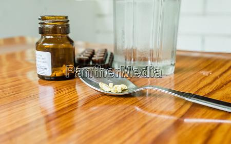 view of antioxidants vitamin tablet pill