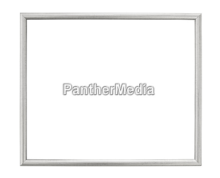 silver colored picture frame on white