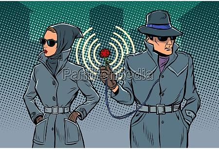 agentes secretos hombre y mujer espias