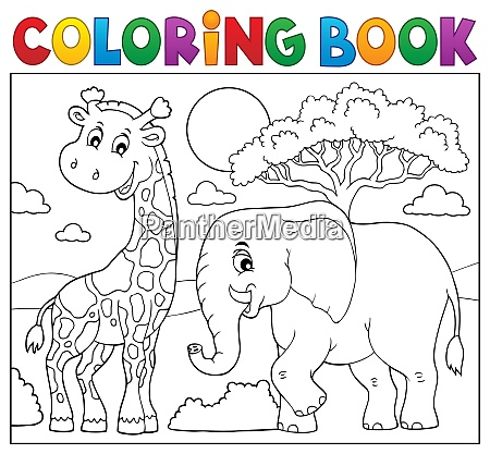coloring book african nature topic 8