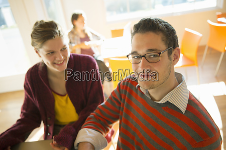 two young people a man and