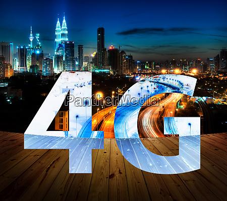 4g text on kuala lumpur malaysia