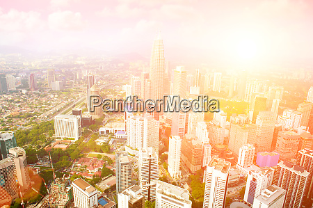 aerial view with of kuala lumpur