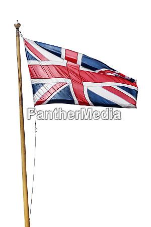 flag of the united kingdom isolated