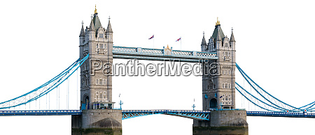 tower bridge in london isolated on