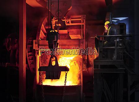 industria proceso de fundicion de control