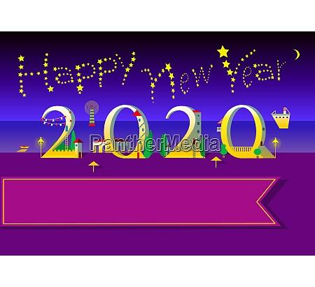 happy new year 2020 stars and