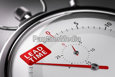lead time written on a stopwatch