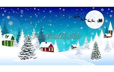 navidad pueblo hogar copos de nieve
