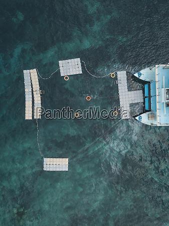 floating bathing ship nusa penida island