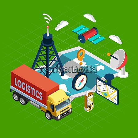 concepto, de, navegación, con, símbolos, logísticos - 27145794