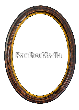 oval wooden decorative picture frame