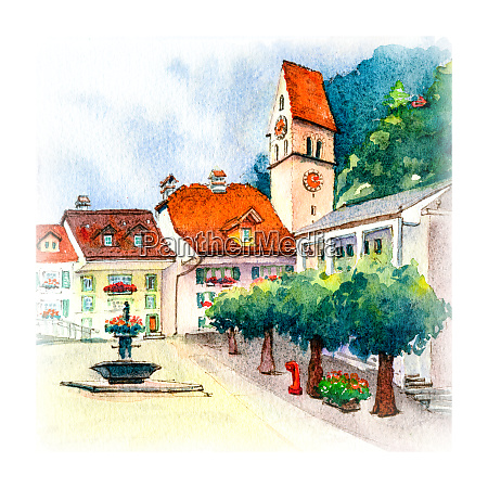 unterseen interlaken shurch switzerland