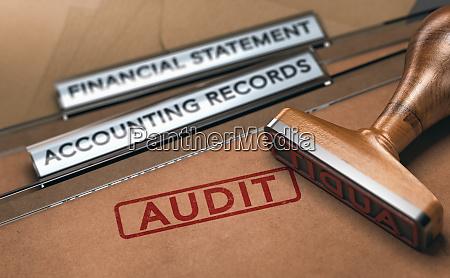 financial auditing examining company accounting records