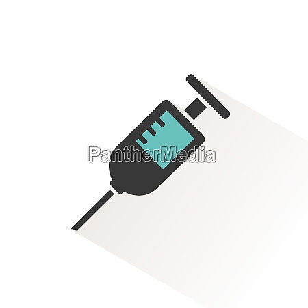 syringe color icon with beige shade