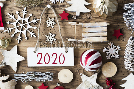 rustic, christmas, flat, lay, , text, 2020, - 27329972