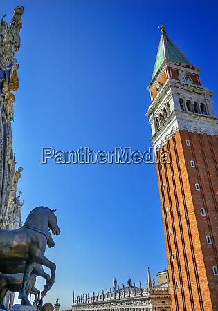 st marks basilica horses campanile bell
