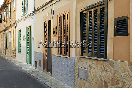 spain balearic islands mallorca street in