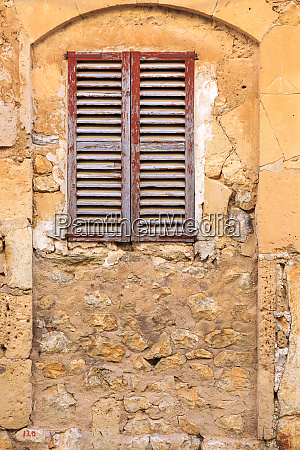 spain balearic islands mallorca wood shuttered