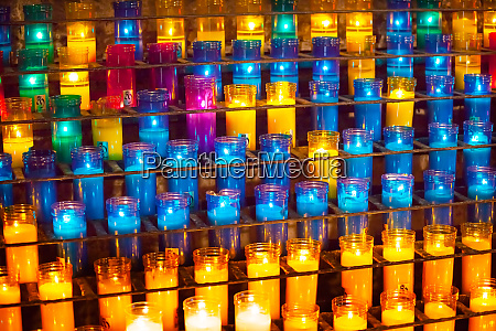 prayer candles monastery of montserrat barcelona