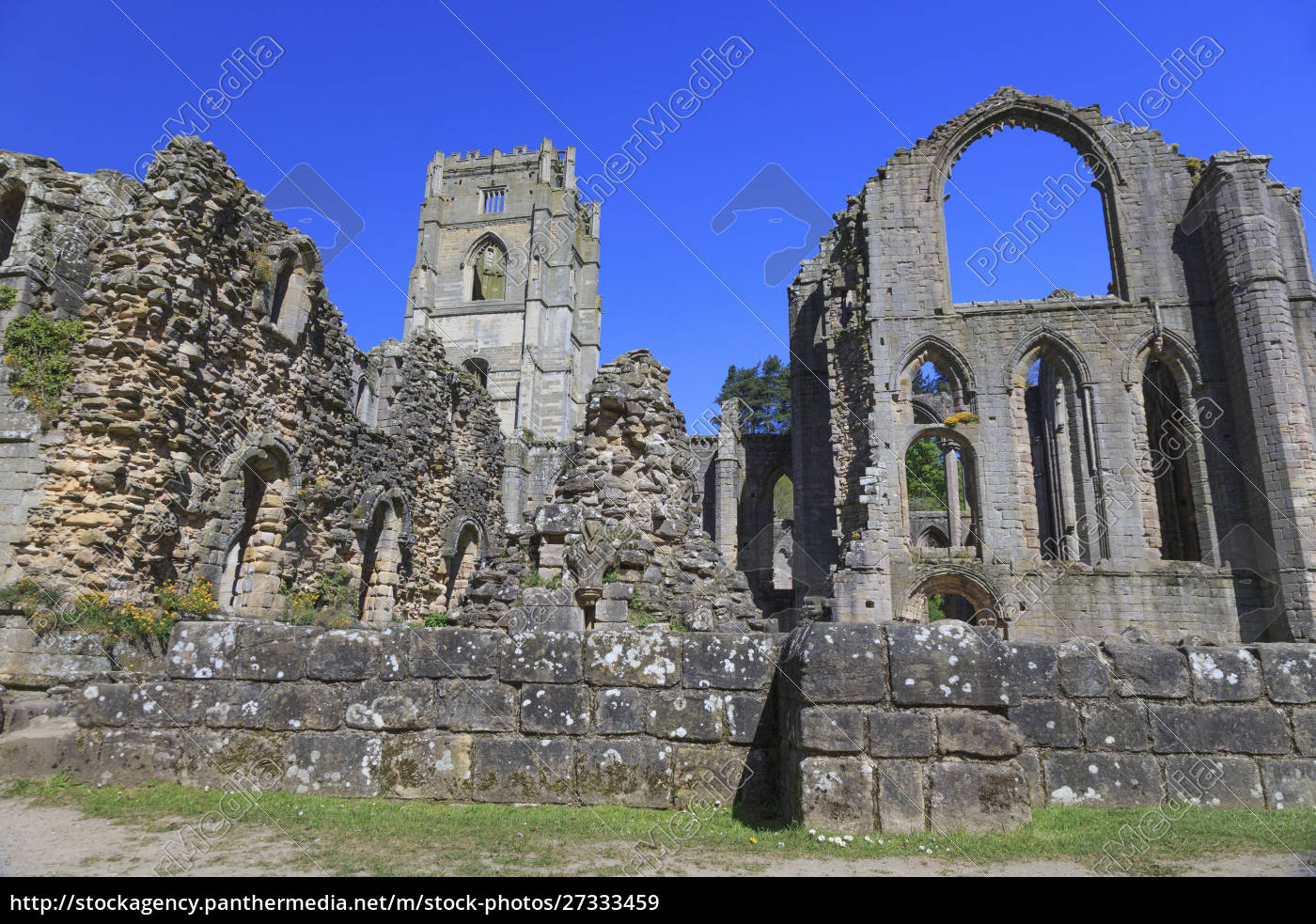 england, , north, yorkshire, , ripon., fountains, abbey, - 27333459