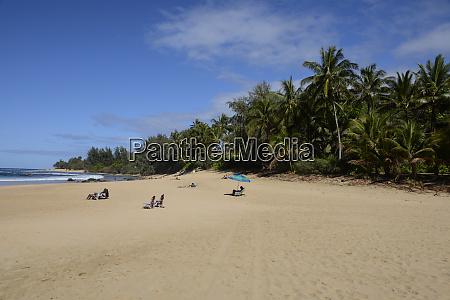 sunbathers, en, ha'ena, state, park, ke'e, beach - 27340428