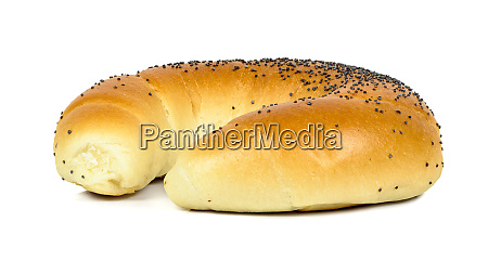crescent roll with poppy seeds on