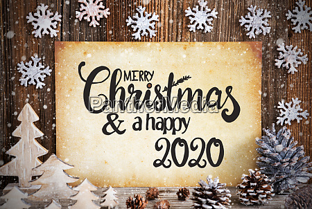 old paper with christmas decoration text