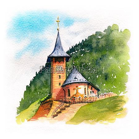 typical swiss church switzerland
