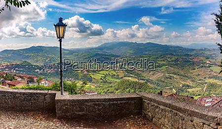 aerial panorama of san marino