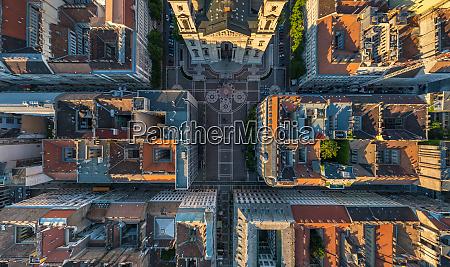 vista aerea de arriba de la