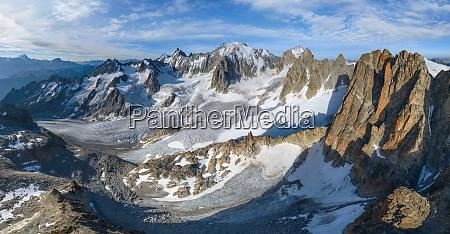 vista aerea panoramica del mont blanc
